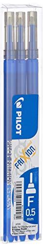 Pilot 006421 Frixion Point Sfera Cancellabile, Refill, 0.5 mm, Confezione da 3, Blu