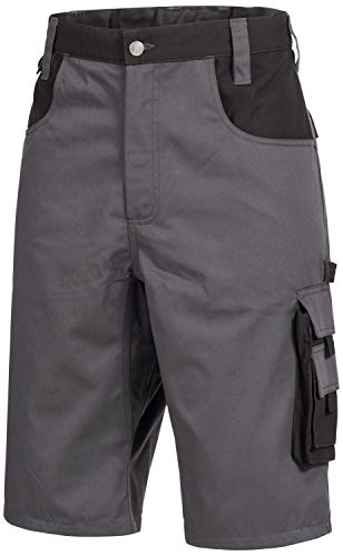 Nitras Motion TEX Plus 7602 Arbeitshosen - Shorts für die Arbeit - Grau - 54