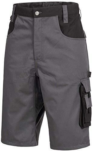 Nitras Motion TEX Plus 7602 Arbeitshosen - Shorts für die Arbeit - Grau - 48