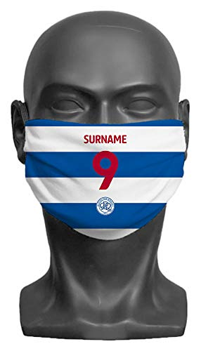 Personalised Queens Park Rangers FC Back Of Shirt Adult Face Mask- Large