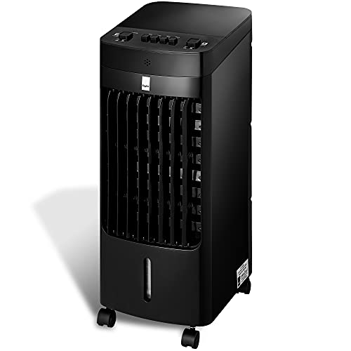 KEPLIN Air Cooler – Portable Conditioner Unit for Home – Advanced Air Purifying Cooling Tower with 3 Fan Speeds, 3 Operational Modes & Oscillation Feature 80W Power (Black 3.5 L)