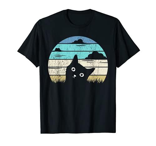 Katzen Damen Herren Männer Frauen Miau Katze Motiv Geschenk T-Shirt