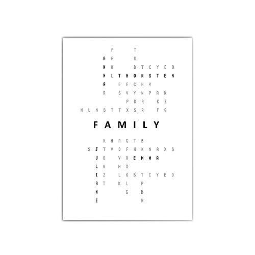 Poster Familie - a4 / 30x40 cm - Typographie – Namen personalisiert - geschenke familie - Familiennamen - persönliche Geschenke - family - 210 g/m² - ohne bilderrahmen