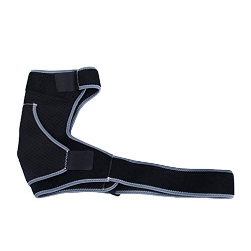 LIOOBO Schulterstütze verstellbare Schulterkompression Ärmelriemen Wrap Schulterschutz für Fußball Paintball Baseball Fechten (schwarz)