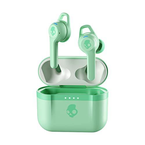 Auriculares Inalámbricos In-Ear Skullcandy Indy EVO True Wireless, con Bluetooth Incorporado, Resistencia al Sudor, el Agua y al Polvo IP55, Batería de hasta 30 Horas de Duración Total - Verde Menta