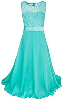 Fashionable Clothing Long Lace Chiffon Tube Top Princess Dress Children's Dress Piano Costume, Size:9/120cm(Pink) (Color : Apple Green)
