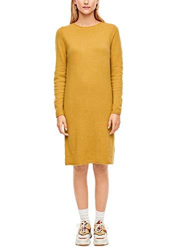 s.Oliver RED Label Damen Strickkleid aus Softer Wollmischung Yellow 34