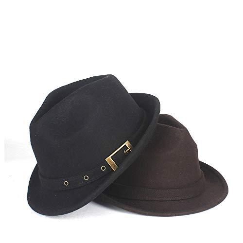 Xuguiping Australië 100% wol mannen Fedora-hoed Dad Jazz Hat Herr Homburg Billycock Hat Maat 58CM 58CM coffee