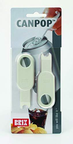 Brix CanPop Beverage Can Opener, Set of 2, Multicolor