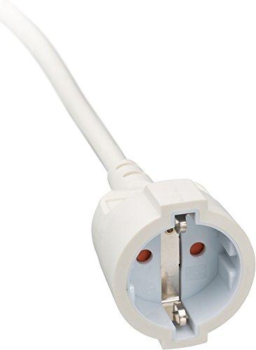Brennenstuhl Qualitäts-Kunststoff-Verlängerungskabel mit Flachstecker, weiß & Kunstoff-Verlängerungskabel (für den Innenbereich, 3m Kabel, mit Euro-Stecker und Kupplung) weiß