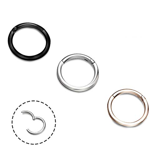 EVBEA 3 STKS Neuspiercings Roestvrij Staal Neusring 16G 8mm 10mm 12mm Helix Piercing Ring High Quality Neusringen