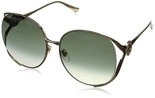 Gucci Damen GG0225S 002 Sonnenbrille, Gold (2/Brown), 63