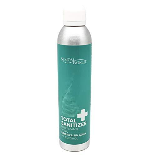 TOTAL SANITIZER higienizante multiusos en spray apto para la ropa con 99% alcohol 300ml sesioMWorld®