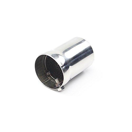 JFGRACING Auspuffrohr-Schalldämpfereinsatz, 4,9 cm Außendurchmesser x 6,9 cm Länge, Edelstahl, universal, für Motorräder, DB-Vernichter, Schalldämpfer mit Verstellbarer Schraube