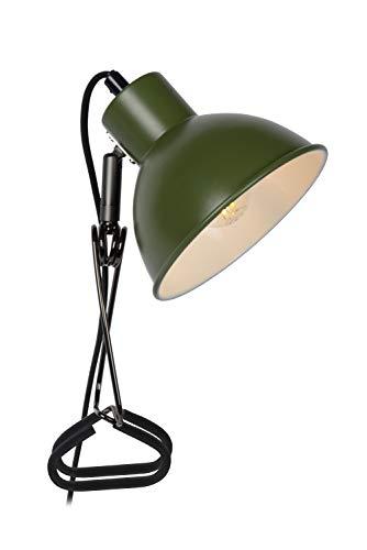 Lucide MOYS - Lámpara con pinza (1 bombilla E27), color verde