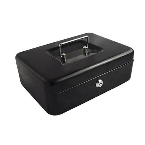 CABLEPELADO Caja fuerte metalica portatil caudales (Gigante, Negro)