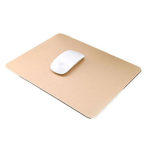 Delmkin Unisex-Youth, Gold-250200mm, Mauspad Aluminium Pad Laptops Mouse Pad-250200mm (Gold-2)