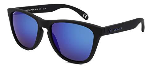 Polar sonnenbrille unisex polarisiert matt schwarz mit blauer Linse (P30680/C)