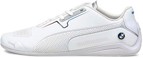 PUMA Men's BMW MMS Drift CAT 8 Sneaker, White White, 9.5