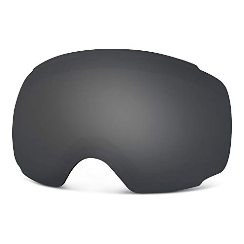 OutdoorMaster Ski Goggles PRO Replacement Lens - 20+ Different Colors ( VLT 9% Polarized Black Lens...