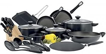Prestige Aluminum Classique Pro Cookware Set of 24 Piece, Black PR21638