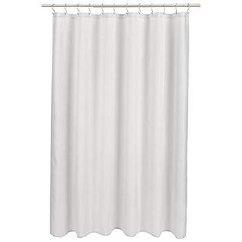 Amazon Basics Linen Style Bathroom Shower Curtain - Light Grey 72 Inch