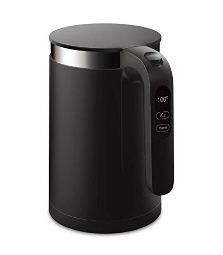 VIOMI Smart Kettle Wasserkocher mit optinaler iOS/Android App Steuerung (1,5 Liter, 1.800 Watt, Edelstahl Innenschicht, OLED-Temperaturanzeige, Schnellkoch- & Warmhaltefunktion) Black (Schwarz)