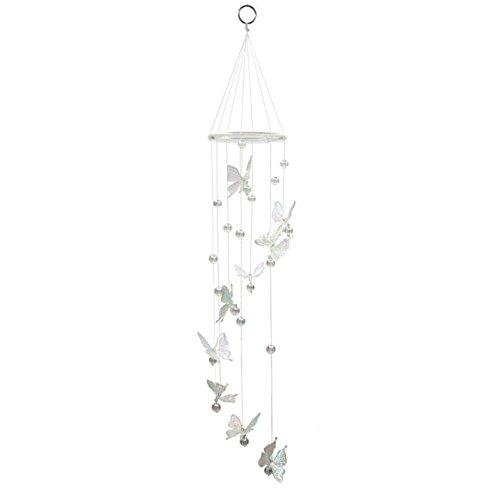 Windspiel für den Garten, spiralförmig, mit Glocken und Schmetterlingen