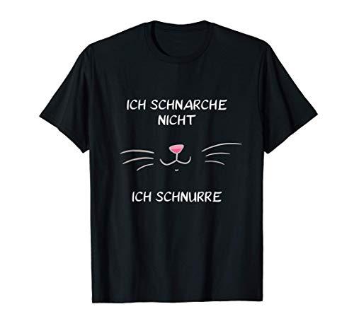 Ich Schnarche Nicht Ich Schnurre Katze Schlafanzug Pyjama T-Shirt