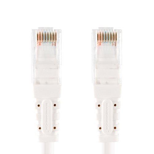 Bandridge 2 m multimedia Cat6 nätverkskabel – vit