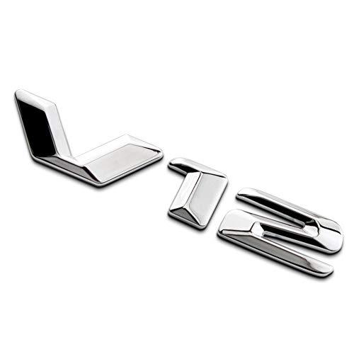 XHULIWQ Auto 3D Metall Styling Abzeichen Aufkleber Chrom Emblem, Für Mercedes-Benz, Für Maybach V12, Auto Außenaufkleber Abziehbilder Zubehör Dekoration