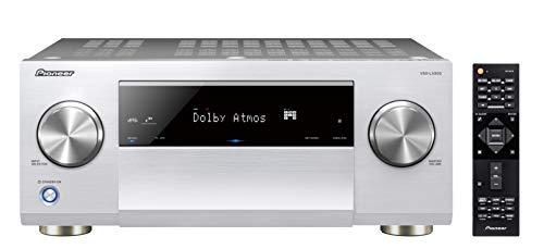 Pioneer VSX-LX503 9.2-Kanal-AV-Receiver (mit 180 W/Kanal, Dolby Atmos und DTS:X, 4k Ultra HD, 6 HDMI-Anschlüssen, Hi-Res-Audio, Wireless, Bluetooth, Sprach Assistent, Multiroom), Silber