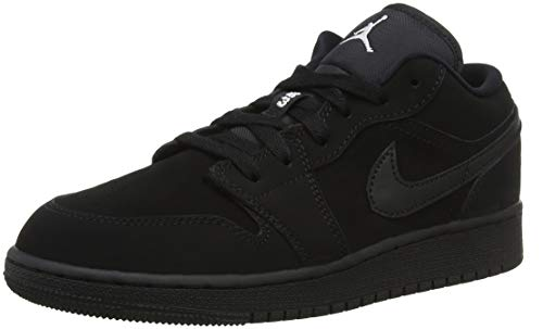 Nike Herren Air Jordan 1 Low (GS) Basketballschuhe, Schwarz (Black/White 019), 36 EU