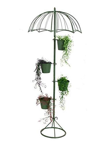 WAJI Nordic Schmiedeeisen Regenschirm Blumenständer Balkon Blumengarten Garten Blumenständer Einkaufszentrum Boden Regenschirm Dekoration Ornamente-4