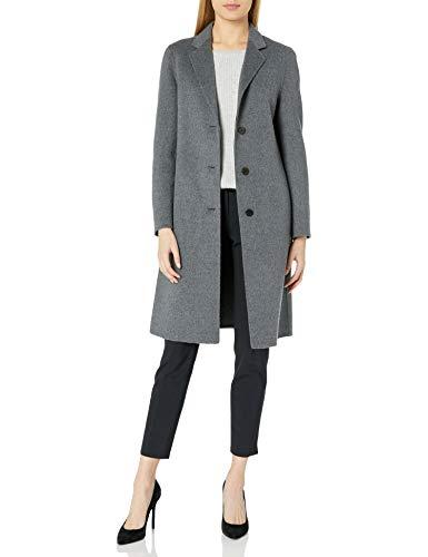 Theory Women's Classic Coat, Dark Grey Melange, 8
