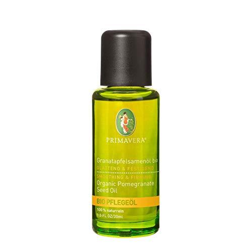 PRIMAVERA Pflegeöl Granatapfelsamenöl bio 30 ml - Naturkosmetik, Pflanzenöl, Hautöl - glättend, regenerierend bei reifer, anspruchsvoller Haut