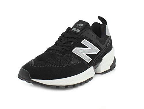 New Balance Men's Fresh Foam 574 Sport V2 Sneaker, Black/Silver Metallic, 8.5 D US