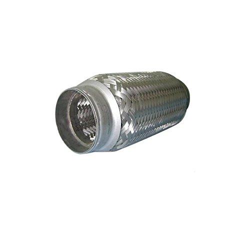 Conector de tubo de escape flexible de acero inoxidable de 40 mm x 150 mm, resistente soldadura en acoplador flexible tubo adaptador de junta (40 mm x 150 mm)