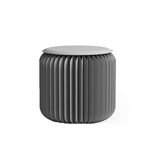 Totovy Moderno Protección Ambiental Simple Telescópico Portátil Portátil Plegable Kraft Papel Taburete Creativo Redondo Taburete Ocio Personalidad Café Tabla Invisible Diseño Coche Tabu