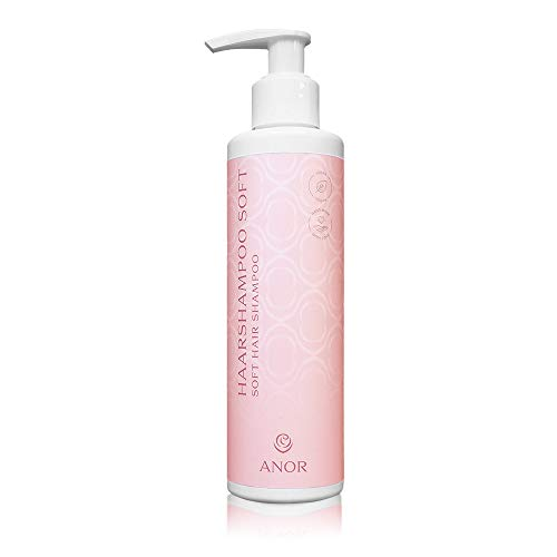 ANOR Premium Pflege Haarshampoo (200ml) für mehr Glanz | tiefenwirksame milde Pflege für Ihr Haar | Kakaoextrakt + Lotos und Wasserlilie | hochwertige Haarvitamine zur Haarglättung