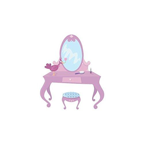 Decoloopio stickers voor meisjes: kaptafel prinses 36 x 42 cm Meerdere kleuren