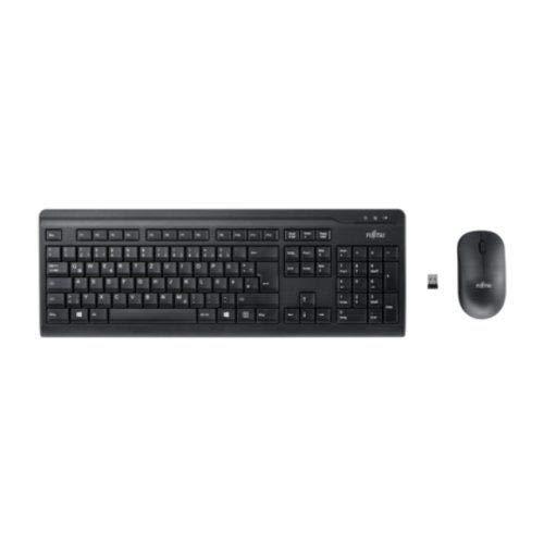 Fujitsu Wireless Keyboard Set LX410 teclado RF inalámbrico QWERTY Italiano Negro