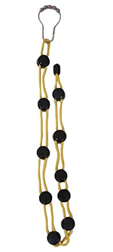 Plus Nao(プラスナオ) 靴下 洗濯 ロープ 物干しロープ ソックス くつ下洗い紐 整理 収納 省スペース 乾燥ロープ 調節可能 滑り止め 物干し - イエロー