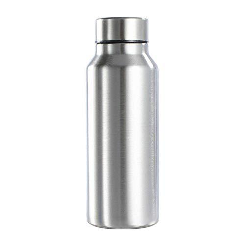 KURAZL Botella Deportiva de Acero Inoxidable de 1000 ml Botella de Agua Fuerte de una Sola Capa Taza de Agua Camping Deportes Fitness Metal Bebida Botella de Agua
