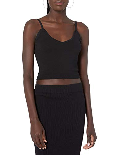 The Drop Women's Roni V-Neck Cropped Sweater Tank