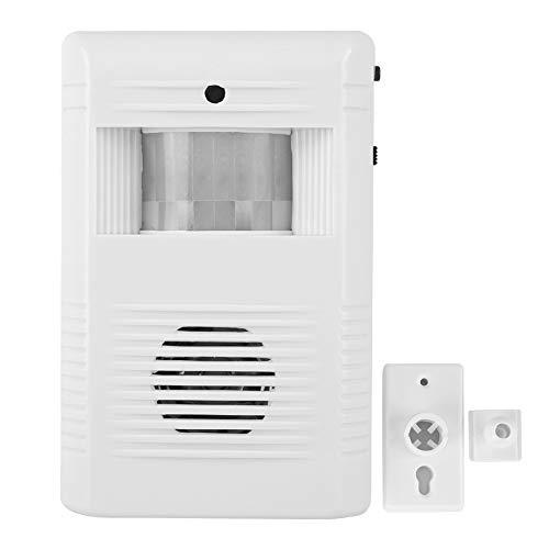 IR infrarood bewegingssensor, geactiveerde stem welkom deurbel, dingdong + 16 muziek + alarmgeluid deurbel ingangsalarm voor winkels/huishoudens met geïntegreerde luidspreker