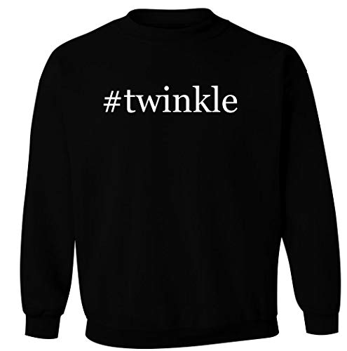 #twinkle - Men's Hashtag Pullover Crewneck Sweatshirt, Black, XXX-Large