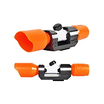 Scope Sight for Nerf Gun Toy Plastic Tactical Scope Sight Attachment with Reticle Targeting Accessory for Modify Toy Kids Gift Nerf Accessory Orange