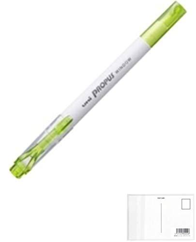 三菱鉛筆 プロパスウインドウ カラーマーカー PUS103T.5 ライトグリーン PUS103T.5 【× 5 本 】 + 画材屋ドットコム ポストカードA