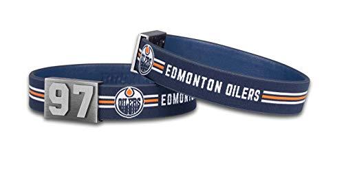 BRAYCE® Edmonton Oilers Armband mit Deiner Trikot Nummer 00-99 I Eishockey pur mit dem NHL® Draisaitl Team Trikot am Handgelenk personalisierbar & handgemacht